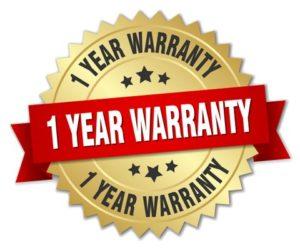 1 year warranty badge